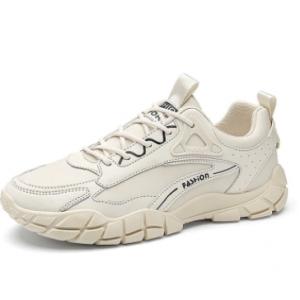 Men PU Non Slip Hard Wearing Lace-up Casual Walking Shoes discountshub