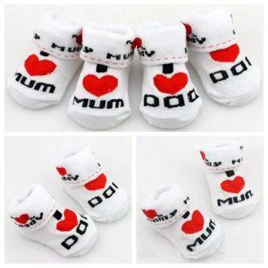New Born Baby Socks - Love Dad And Mum Baby Socks discountshub