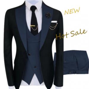 New Costume Homme Popular Clothing Luxury Party Stage Men's Suit Groomsmen Regular Fit Tuxedo 3 Peice Set Jacket+Trousers+Vest discountshub