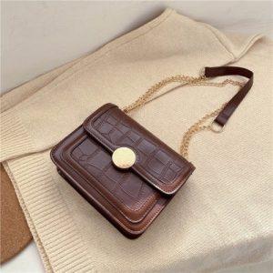New Female Hand Bags - Brown discountshub