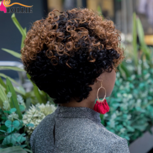 Pixie Cut Kinky Curly Human Hair Wig Cheap Bob Human Hair Wigs Short Curly Wig Full Machine Wigs Party Wig With Free Shipping discountshub