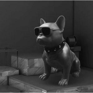 Portable Bulldog Bluetooth Super Bass Speaker - Black discountshub