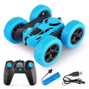 Stunt 2.4G Flip Children Toys RC Remote Control Car - Blue discountshub