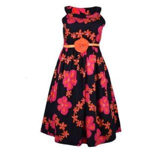 Trendy Men Girl Multicolored Flowery Dress discountshub