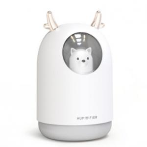 USB Humidifier Cute Pet Ultrasonic Cold Fog Aroma Air Oil Diffuser LED Night Light Lamp Humidifier discountshub