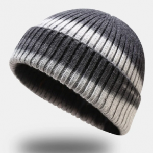 Unisex Core-spun Yarn Knitted Tie-dye Dome Fashion Warmth Beanie Hat discountshub