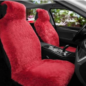 Universal Long Plush Car Front Seat Cover Winter Soft Warm Imitation Wool Seat Slipcover discountshub
