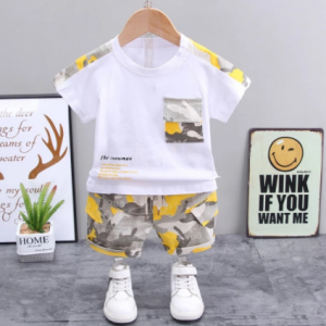 Children Clothes Fashion Summer Baby Girls Clothing Boys Sports T-Shirt Shorts 2Pcs/Sets Toddler Cotton Costume Kids Tracksuits discountshub