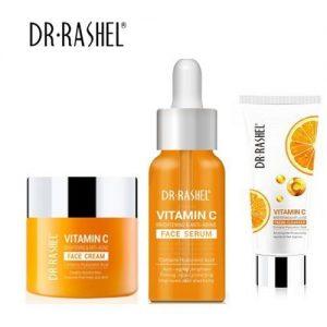 Dr. Rashel Vitamin C Anti Aging Face Combo-{--- Cleanser,Cream,Serum}
