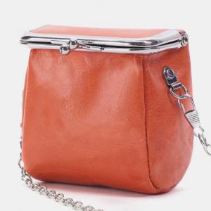 Genuine Leather Metal Buckle Design Crossbody Bag Phone Bag Coin Purse discountshub