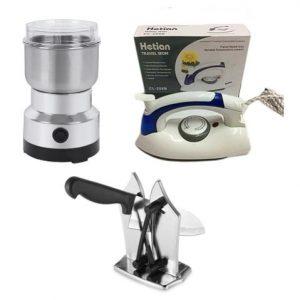 Home Mini Bundle - Nima Grinder + Travel Iron & Knife Sharpener discountshub