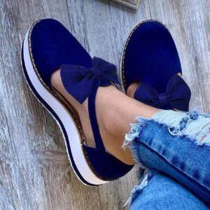 Ladies' Trendy Sneaker - Blue discountshub