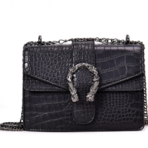 Luxury Women Handbags Top Quality PU Leather Women's Designer Brand Shoulder Crossbody Bag And Purses Female Chain Messenger Bag discountshub