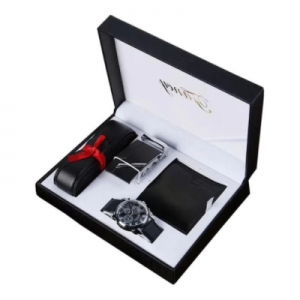 Man Watch Gift Set With Box Leather Belt Men Wallets Watch Mens Watches Luxury Quartz Wrist Watch Set For Father's Day Gift discountshub