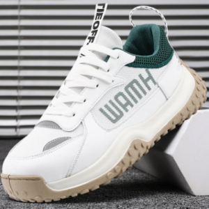 Men Breathable Chic Color Blocking Printing Lace-up Sport Casual Sneakers discountshub