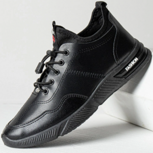 Men PU Breathable Lace-up Soft Round Toe Sport Casual Shoes discountshub