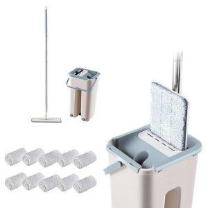 Microfiber Mop With Bucket, Clean Squeeze Handsfree Mop discountshub