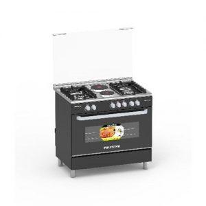 Polystar 4 Gas Burners + 2 Hotplates Gas Cooker & Grill - Pvnd-bl950g2 discountshub