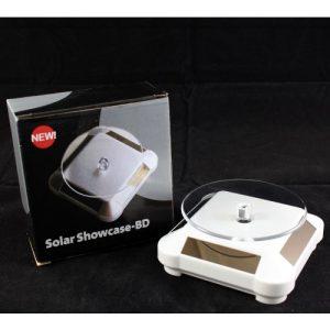 SS Solar Showcase-BD 360° Turntable Rotating Display Stand – White discountshub