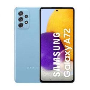 """Samsung Galaxy A72 - 6.7"""" - 128GB ROM - 8GB RAM - 4G LTE - Dual Sim - 5000mAh - Awesome Blue discountshub"""