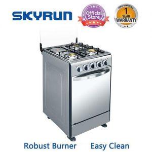 Skyrun Gas Cooker(3 Burners+1 Electric Hotplate)- GCS-3G1E/K discountshub