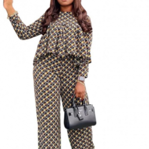 2 Piece Women Sets 2021 New Arrival Spring Autumn Matching Sets Grid Print Two Pieces Sets Top Pants Suits Outfits Clothing discountshub