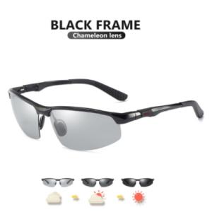 2021 New Aluminum Rimless Photochromic Sunglasses Men Polarized Driving Glasses Male Sport Chameleon Eyeglasses zonnebril heren discountshub