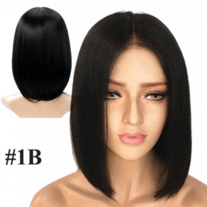 AIYEE Short Straight Brazilian Wig Synthetic Middle Part Hair Wigs Full Head for Black Women Heat Resistant Wig for Women discountshub