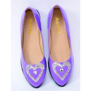 Asake Women's Flat Shoe - Purple discountshub