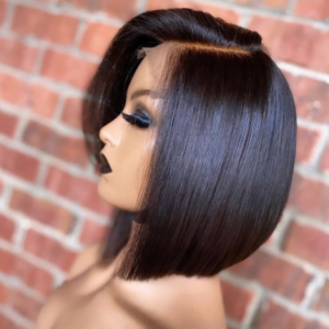 Black Bob lace Front Wigs Side Part For Women 14Inch Short Straight Hair 1B Natural High Temperature Synthetic Wigs Daily Party discountshub