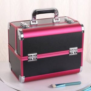 Box Black Professional High Quality Makeup Box With Secured Lock discountshub