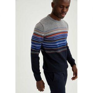 Defacto Man Navy Slim Fit Pullover discountshub