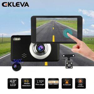 Ekleva Dash Cam 4'' Touch Screen 1080P HD Car Camera 170° Wide Angle Dashboard Camera With G-Sensor. Motion Detection, Loop Recording Camera Recorder discountshub