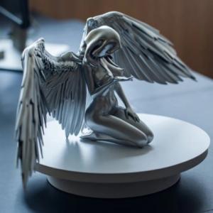 Figurines & Miniatures Silver Angel Wings Resin Crafts Desktop Ornaments Garden Ornaments Home Decor Angel Cabochon discountshub