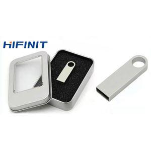 Hifinit 64GB Metal USB Flash Drive - Silvery +Free Key Ring discountshub