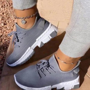 Large Size Women Sports Breathable Knitted Soft Comfy Sneakers discountshub