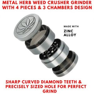 Magnetic Metal Herb Weed Grinder 4 Part Tobacco Crusher discountshub