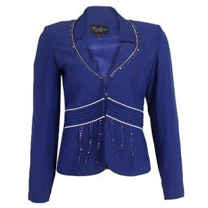Mavellino Blazer For Ladies' -Blue discountshub