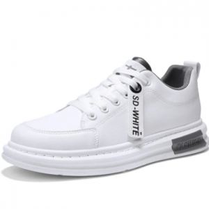 Men Breathable Light Weight Round Toe Lace-up Casual Skate Shoes discountshub