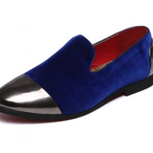 Men Stylish Suede Splicing Non Slip Business Dress Shoes discountshub