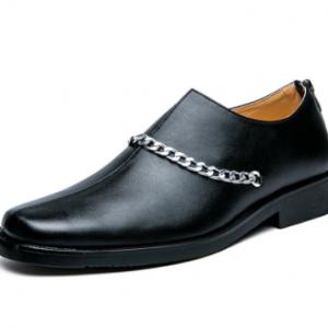 Men Zipper Microfiber Leather Non Slip Casual Formal Shoes discountshub