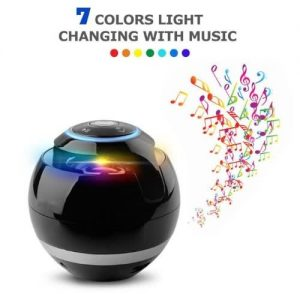 Portable Mini Wireless Speaker Ball Column - Black discountshub
