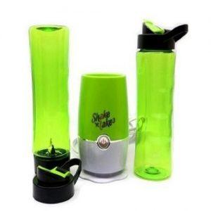 Shake N Take Smoothie Maker/Mini Blender With Two Bottles discountshub