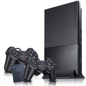 Sony PS2 Slim Console + 2 Controllers With 15 Downloaded Games discountshub