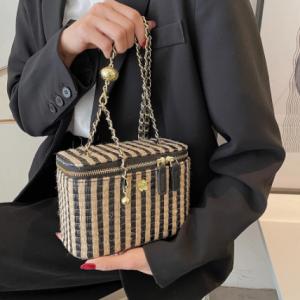 Weave Square Crossbody bag Box bag 2021 Summer New High-quality PU Leather Women's Designer Handbag Chain Shoulder Messenger Bag discountshub