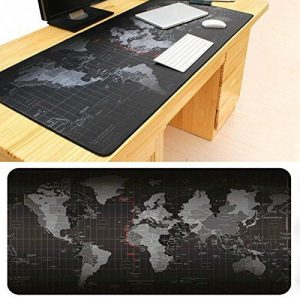 World Map Pattern Mouse Pad 70 * 30 Cm Soft Rubber discountshub